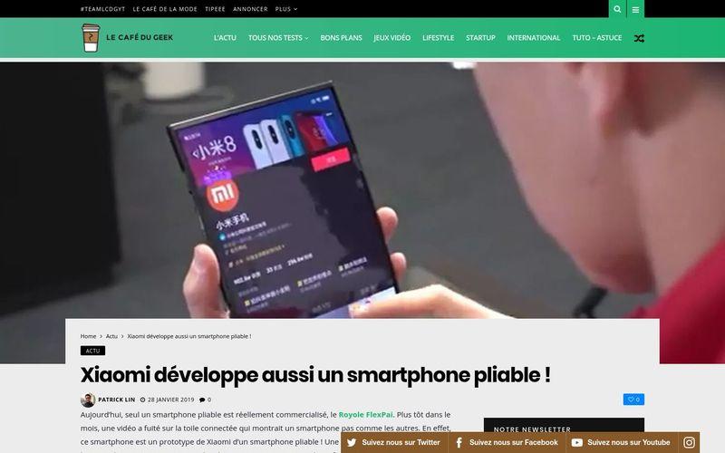 Xiaomi développe aussi un smartphone pliable ! - LCDG