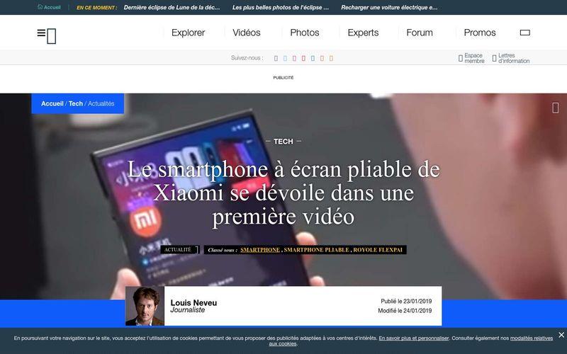 Le smartphone à écran pliable de Xiaomi se dévoile dans une première vidéo