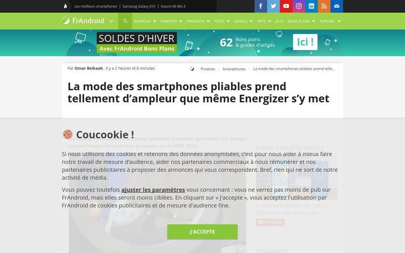 La mode des smartphones pliables prend tellement d'ampleur que même Energizer s'y met - FrAndroid