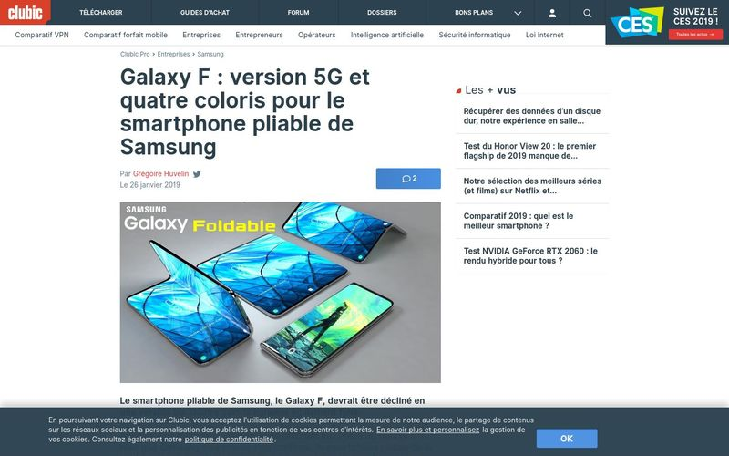 Galaxy F : version 5G et quatre coloris pour le smartphone pliable de Samsung