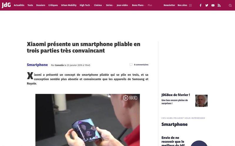 Xiaomi présente un smartphone pliable en trois parties très convaincant | Journal du Geek