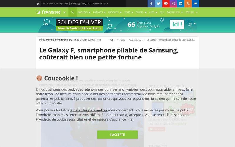 Le Galaxy F, smartphone pliable de Samsung, coûterait bien une petite fortune - FrAndroid