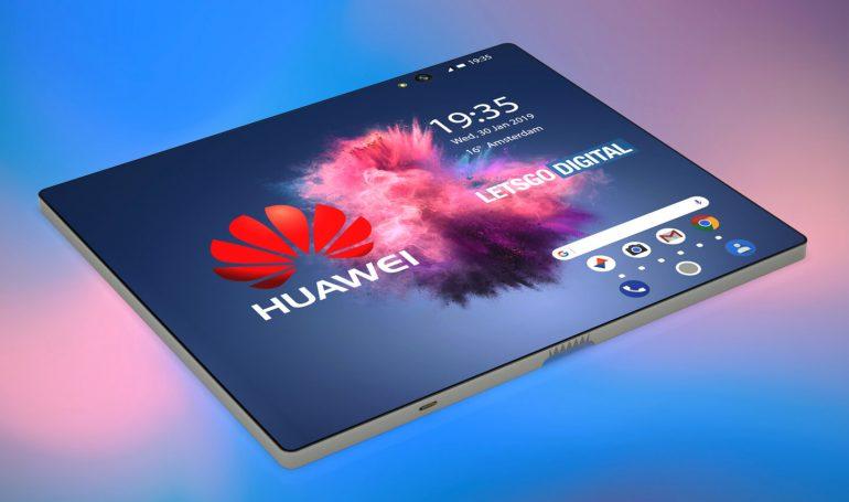 Smartphone pliable Huawei, en mode tablette