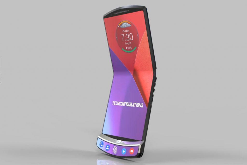 Clamshell Mode : lorsque le téléphone est plié à 120 degrés
