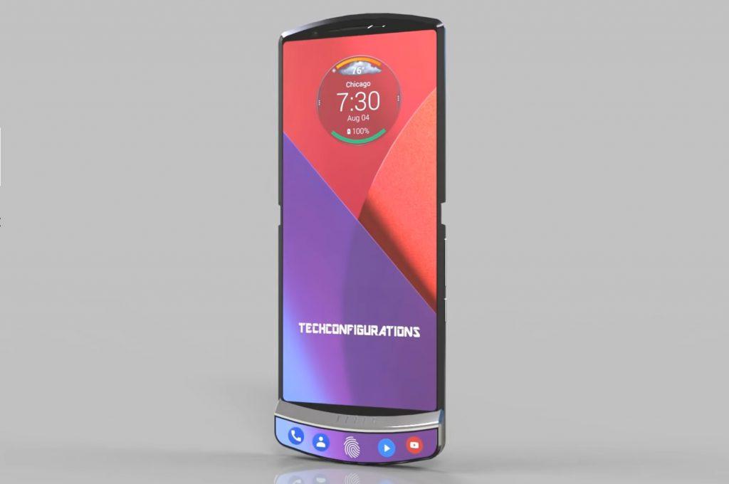 Media Mode : lorsque le téléphone est déplié (3.75 mm d'épaisseur)